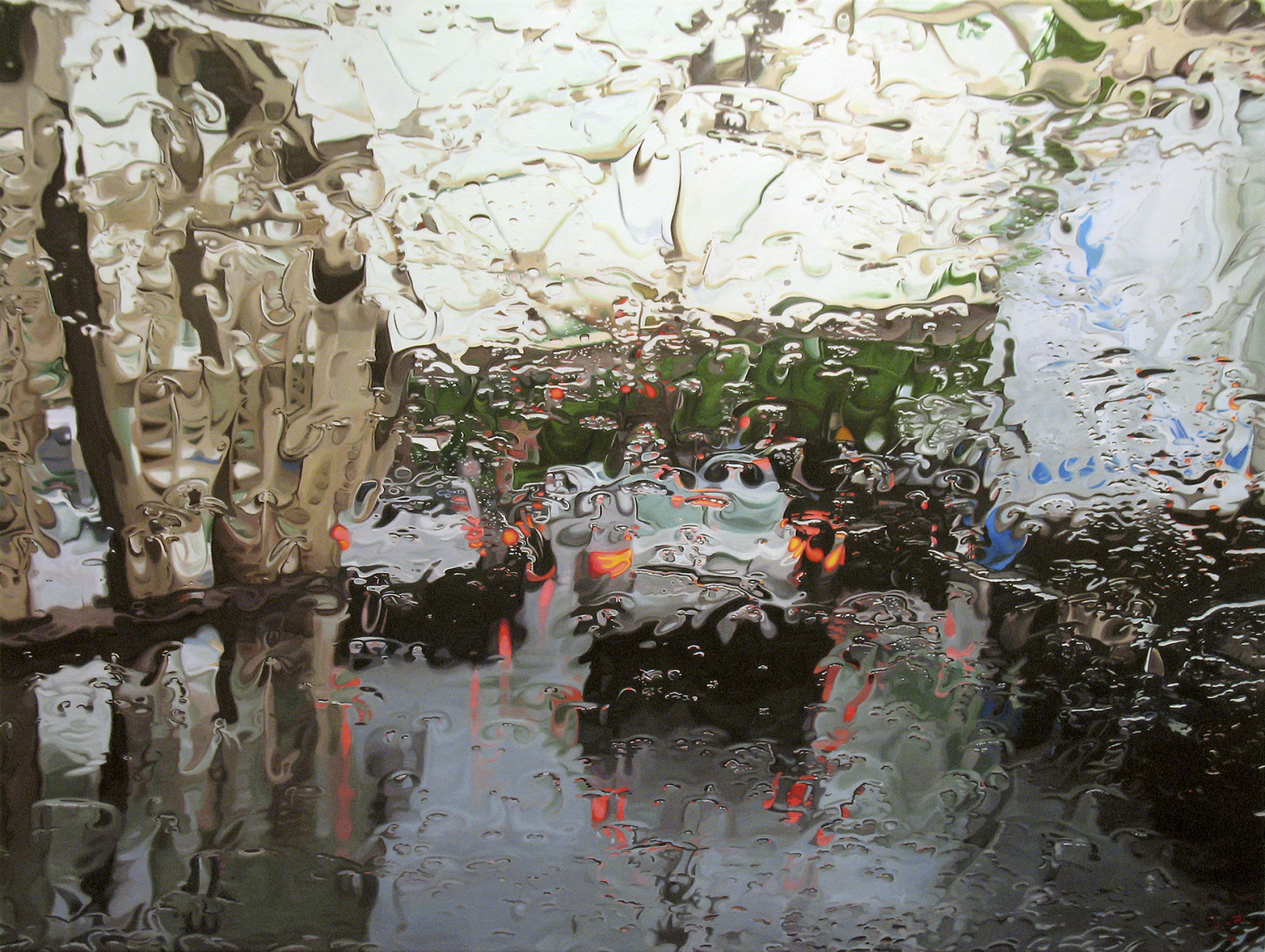 'McGrath Highway'  2006 oil on canvas 36 x 48 inches