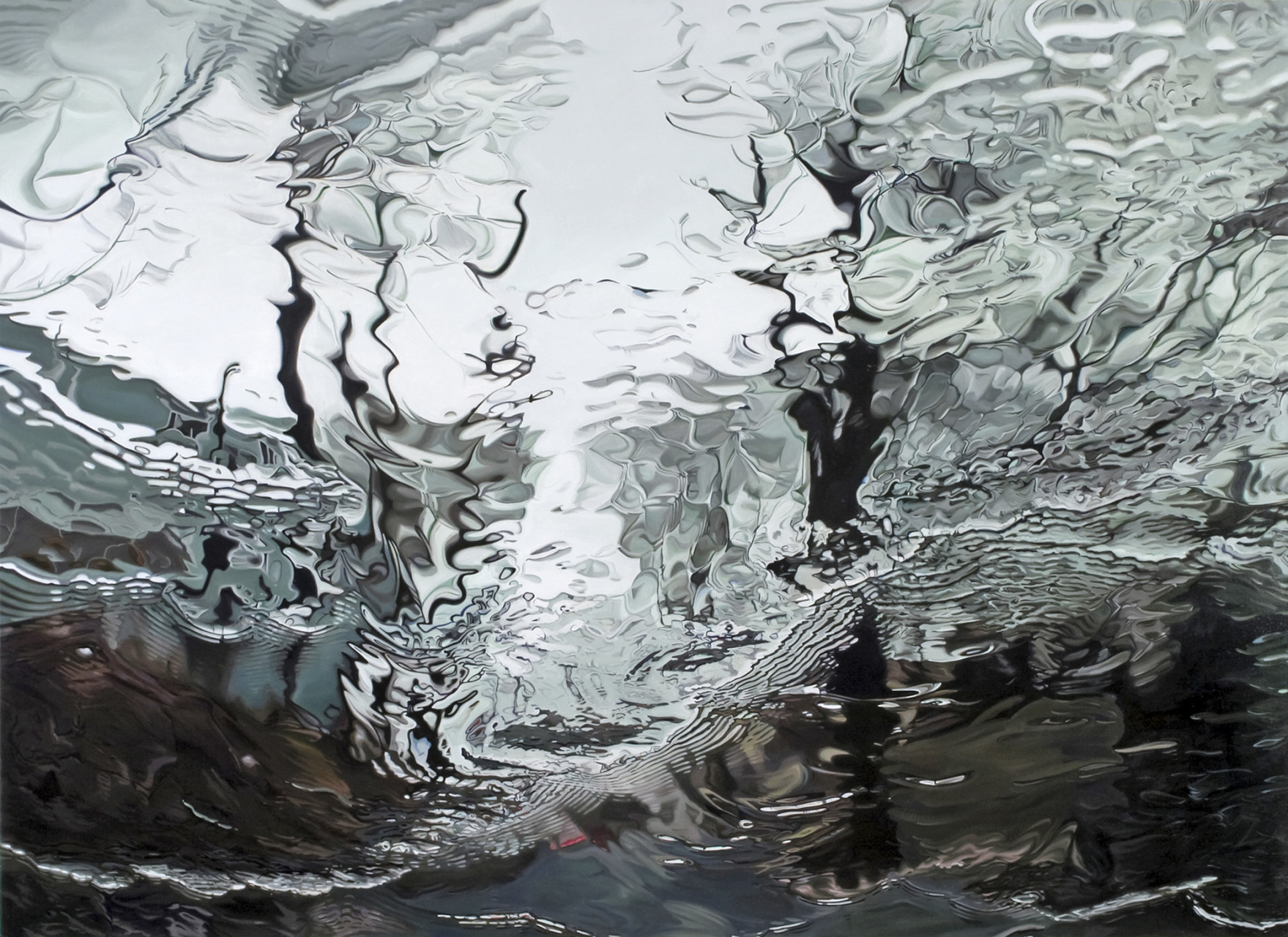 'Vortex'  2008 oil on canvas 48 x 68 inches